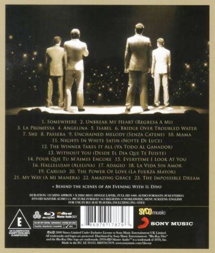 Dvd il divo live in barcelona discomania cd rom - An evening with il divo ...